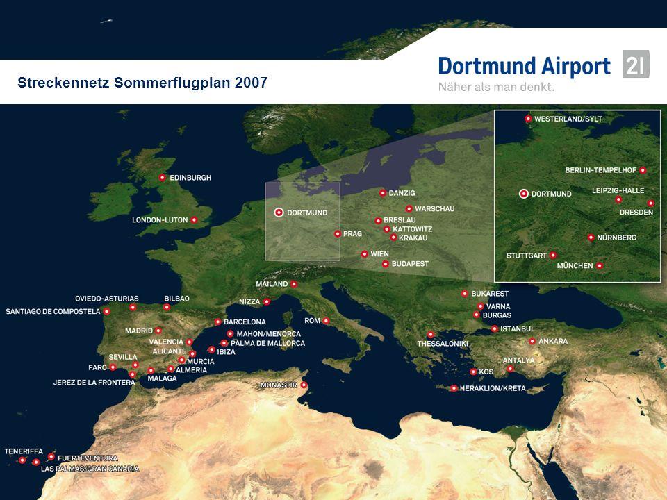 Streckennetz Sommerflugplan 2007