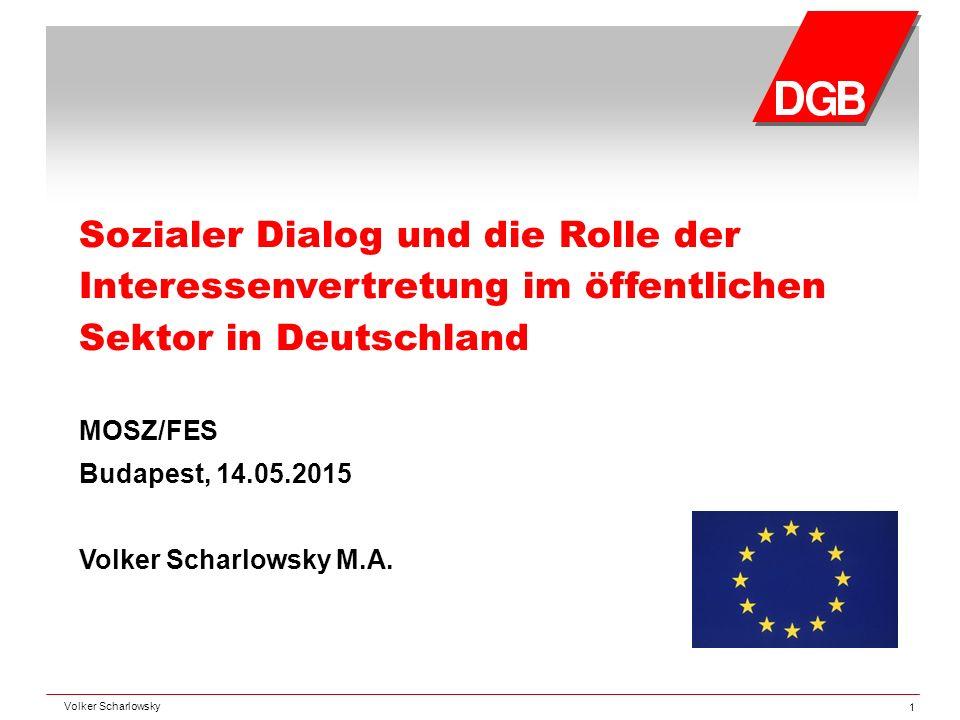 Sozialer Dialog und die Rolle der Interessenvertretung im öffentlichen Sektor in Deutschland