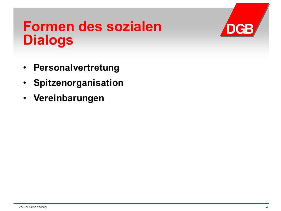 Formen des sozialen Dialogs