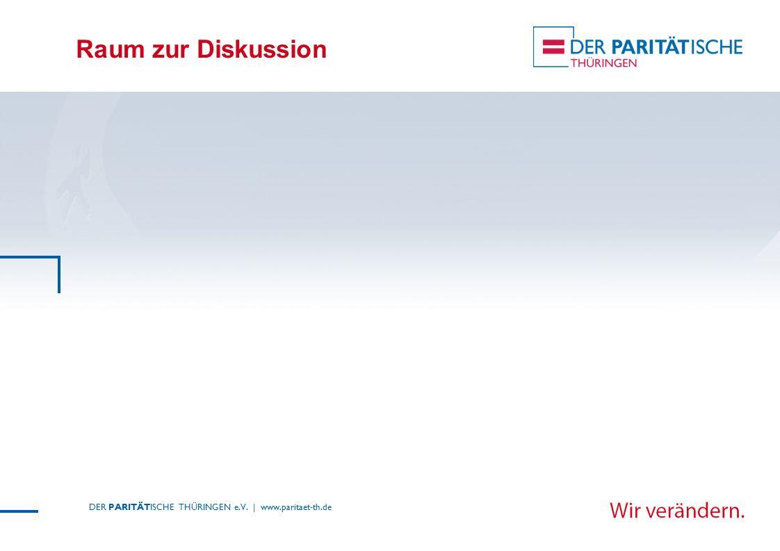 Raum zur Diskussion DER PARITÄTISCHE THÜRINGEN e.V. | www.paritaet-th.de