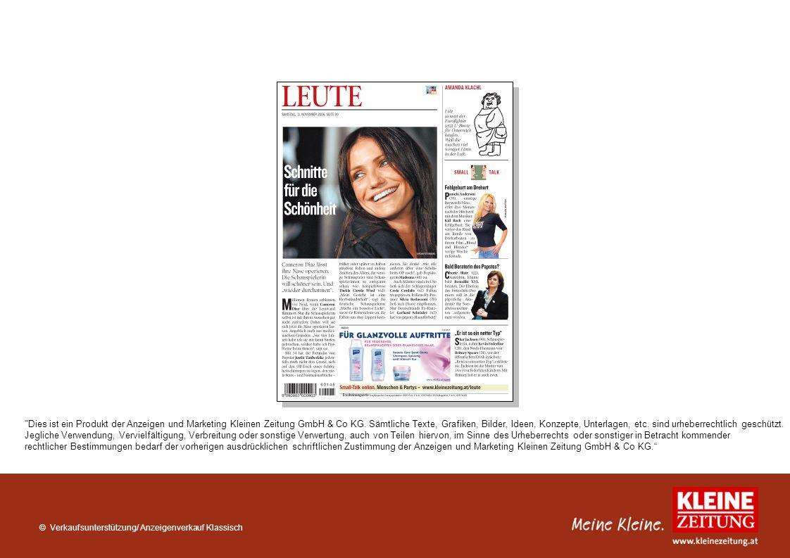 Dies ist ein Produkt der Anzeigen und Marketing Kleinen Zeitung GmbH & Co KG. Sämtliche Texte, Grafiken, Bilder, Ideen, Konzepte, Unterlagen, etc. sind urheberrechtlich geschützt.