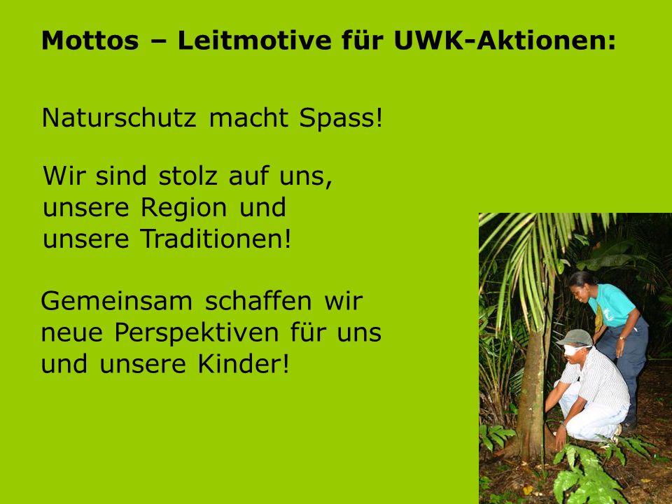 Mottos – Leitmotive für UWK-Aktionen: