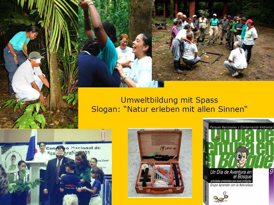 Umweltbildung mit Spass Slogan: Natur erleben mit allen Sinnen