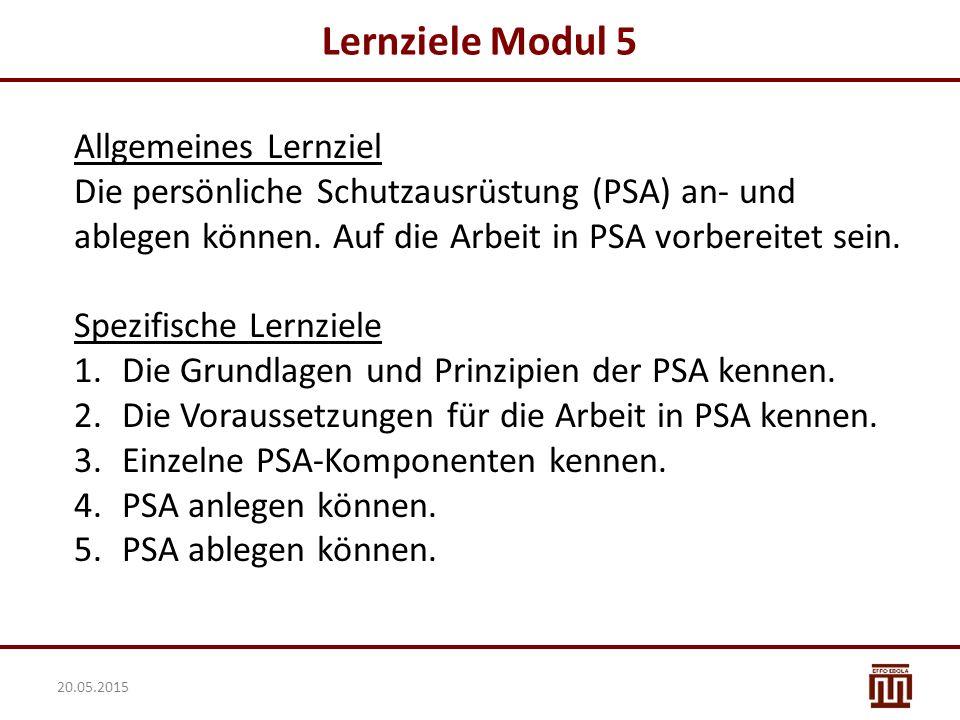 Lernziele Modul 5 Allgemeines Lernziel