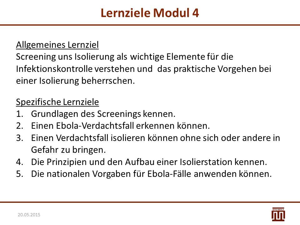Lernziele Modul 4 Allgemeines Lernziel