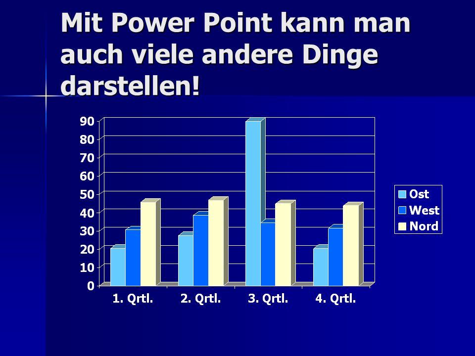 Mit Power Point kann man auch viele andere Dinge darstellen!