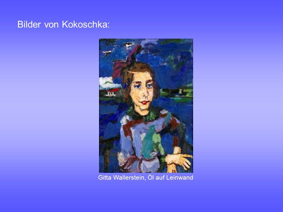 Bilder von Kokoschka: Gitta Wallerstein, Öl auf Leinwand