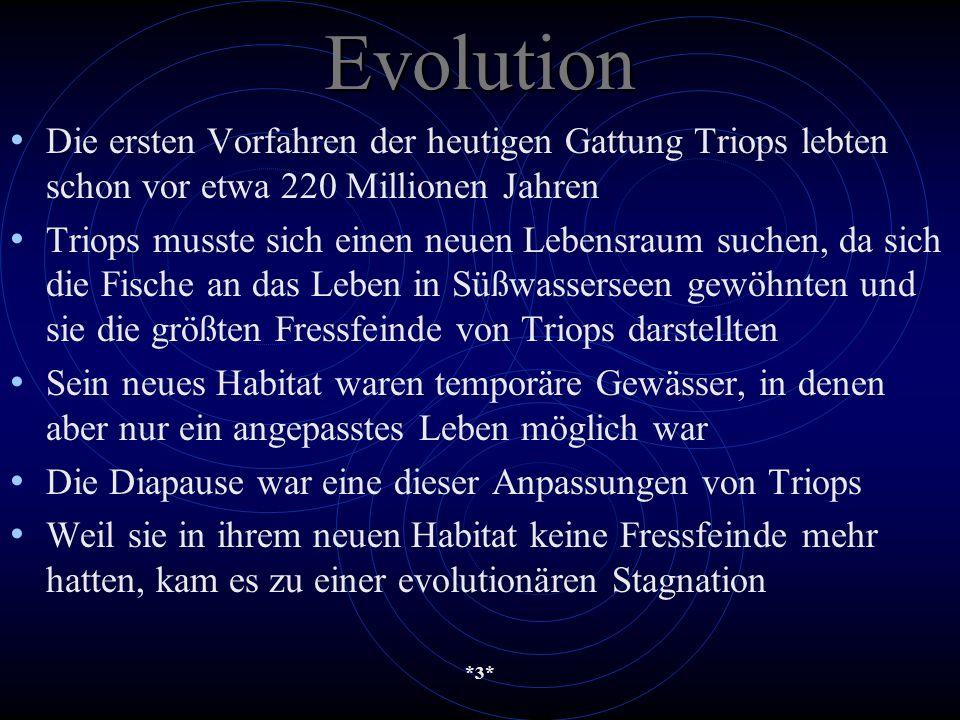 Evolution Die ersten Vorfahren der heutigen Gattung Triops lebten schon vor etwa 220 Millionen Jahren.