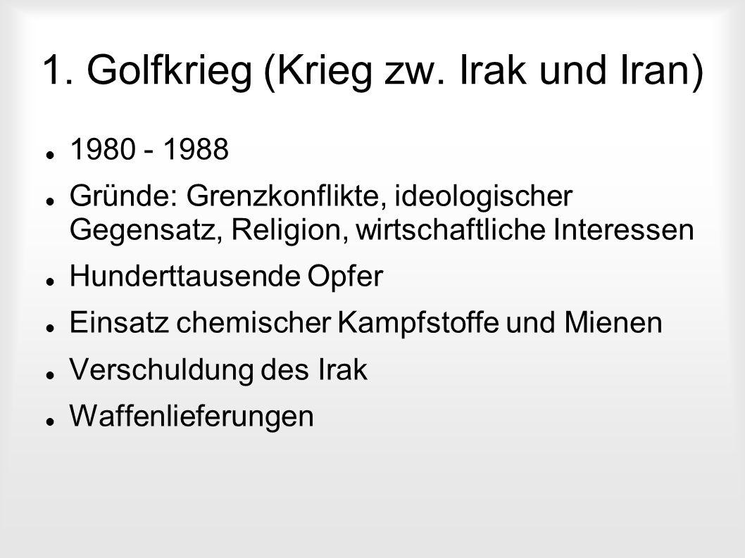 1. Golfkrieg (Krieg zw. Irak und Iran)