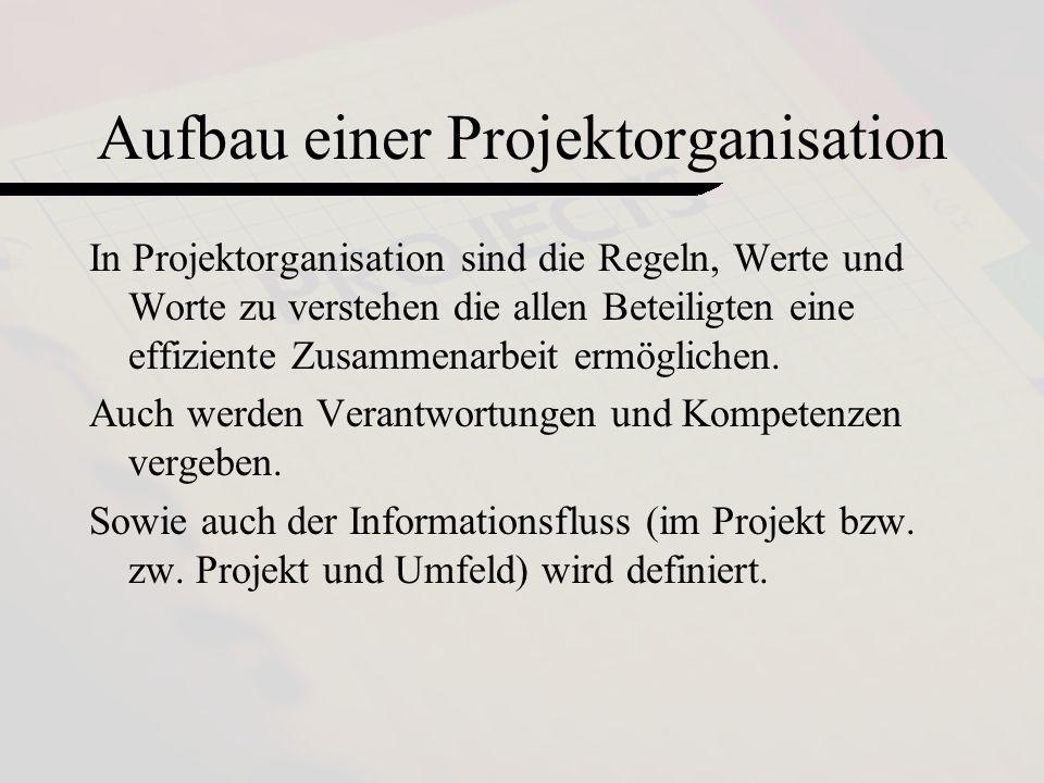 Aufbau einer Projektorganisation