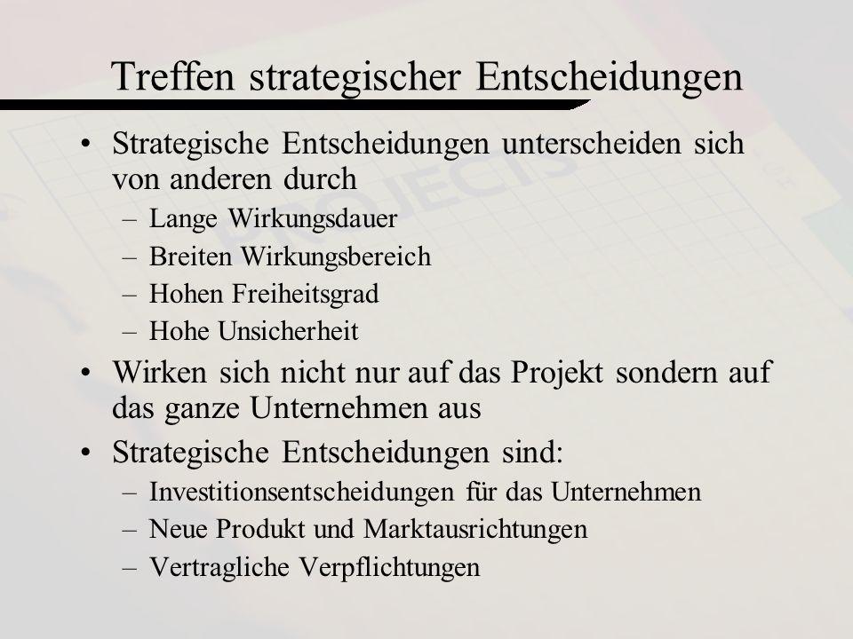 Treffen strategischer Entscheidungen