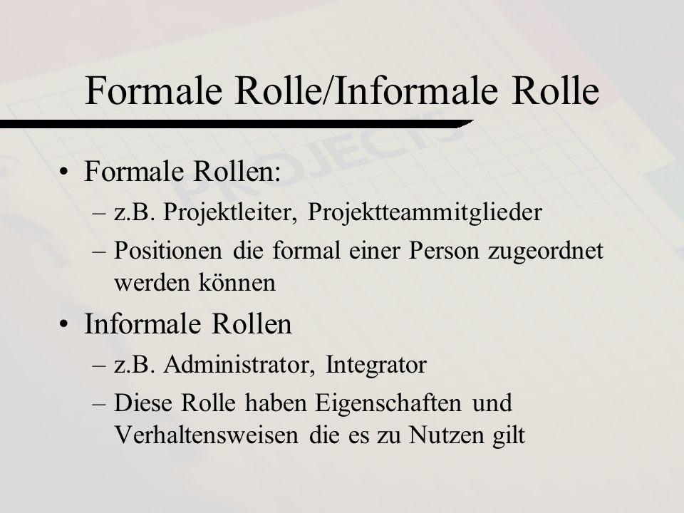 Formale Rolle/Informale Rolle