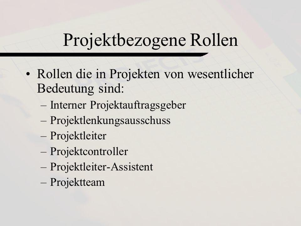 Projektbezogene Rollen