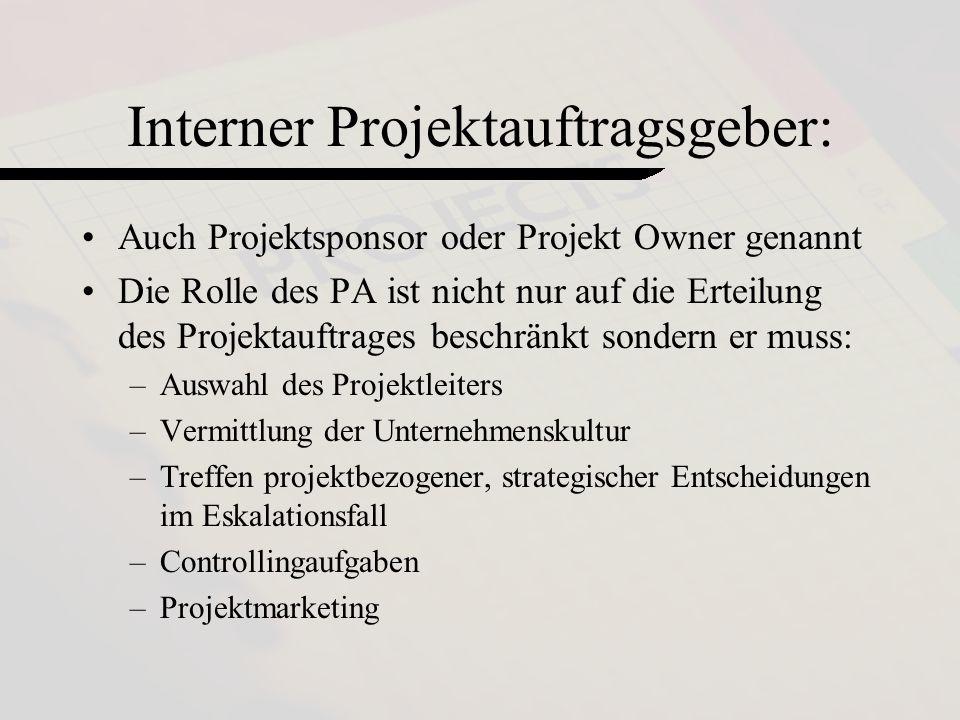 Interner Projektauftragsgeber: