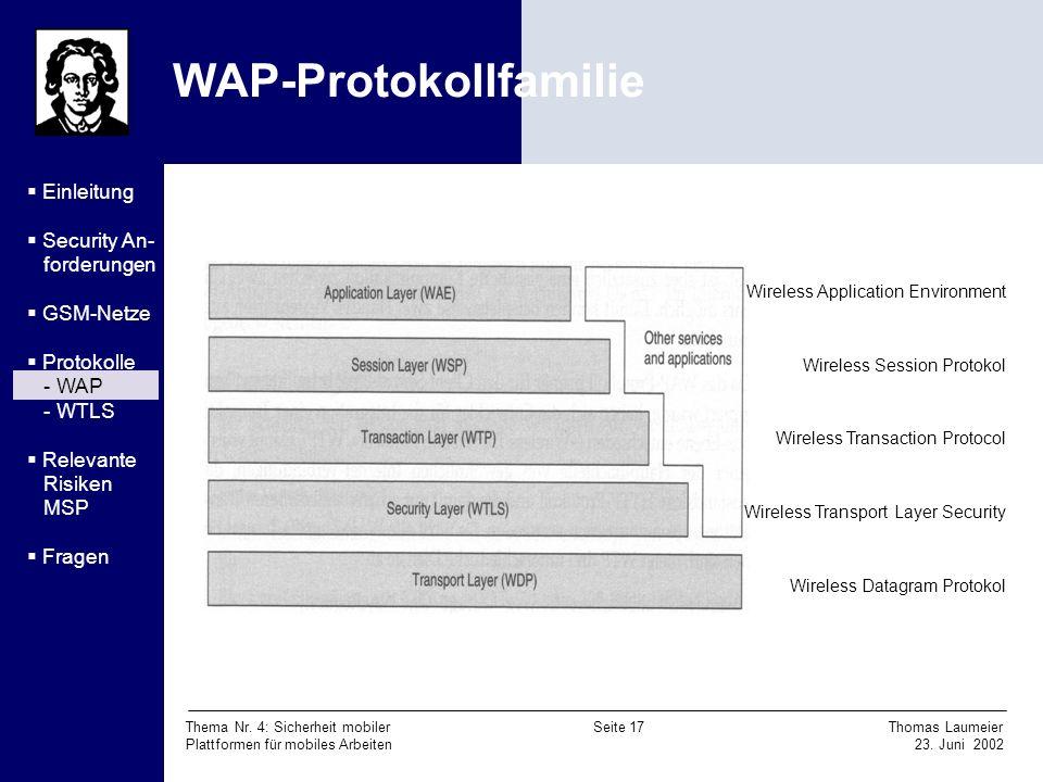 WAP-Protokollfamilie