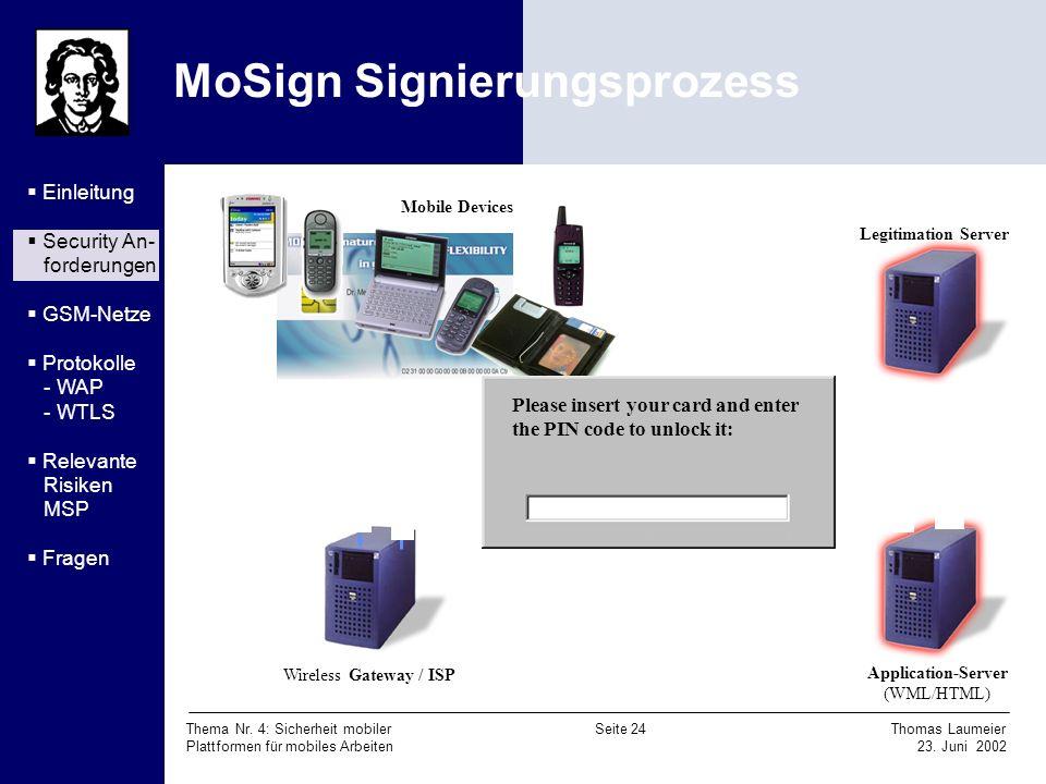 MoSign Signierungsprozess