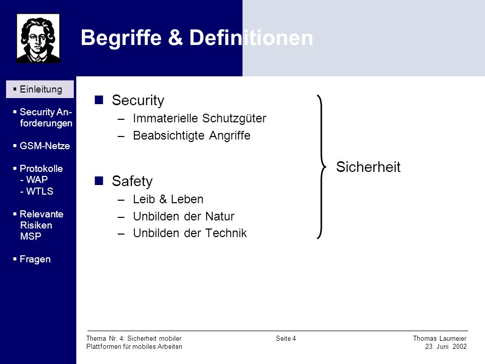Begriffe & Definitionen
