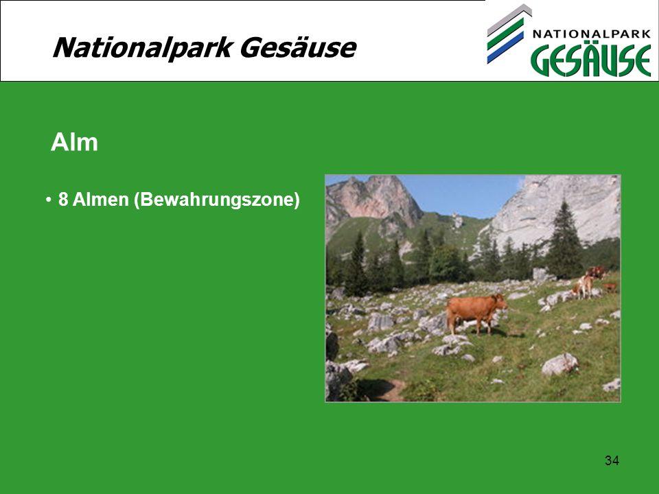 Nationalpark Gesäuse Alm 8 Almen (Bewahrungszone)