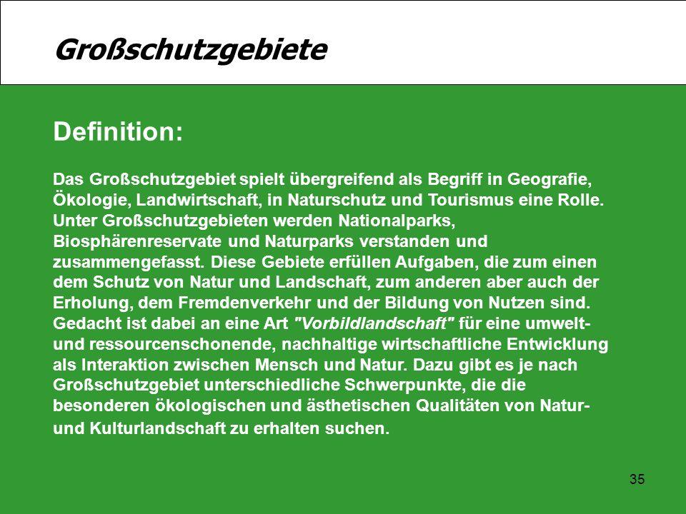 Großschutzgebiete Definition: