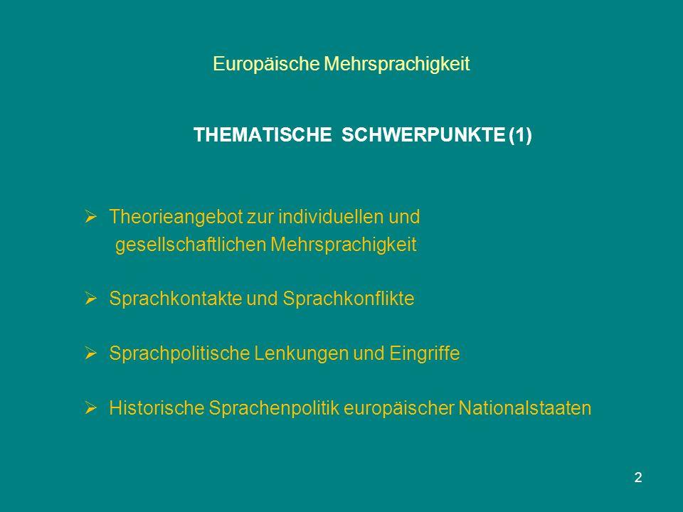 Europäische Mehrsprachigkeit