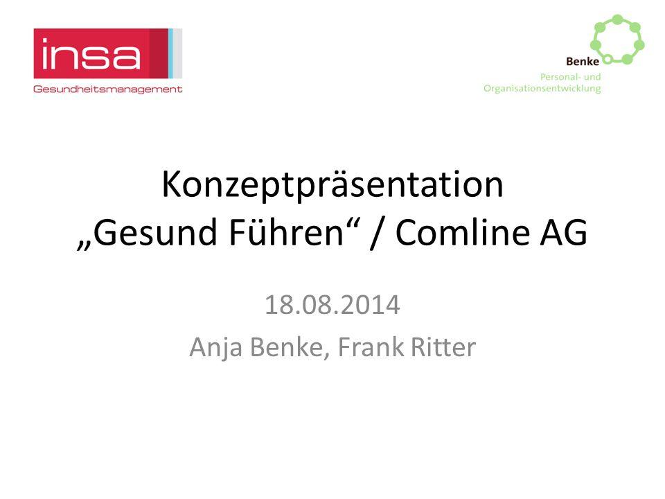 """Konzeptpräsentation """"Gesund Führen / Comline AG"""