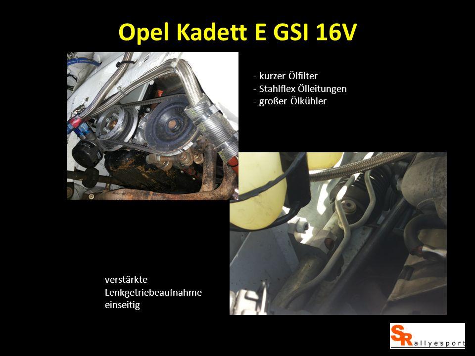 Opel Kadett E GSI 16V kurzer Ölfilter Stahlflex Ölleitungen