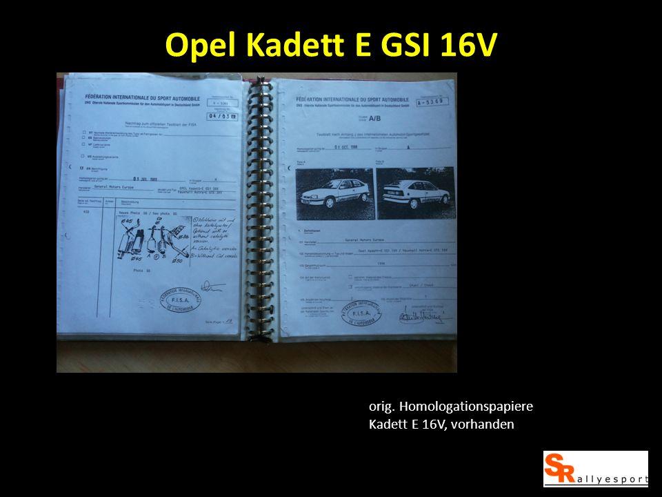 Opel Kadett E GSI 16V orig. Homologationspapiere