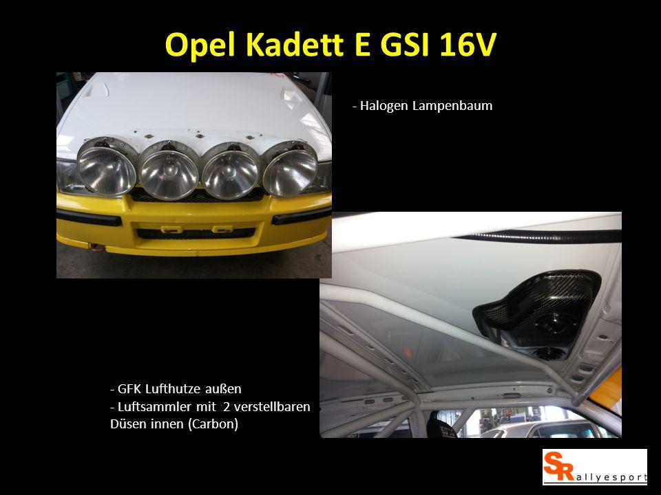 Opel Kadett E GSI 16V - Halogen Lampenbaum - GFK Lufthutze außen
