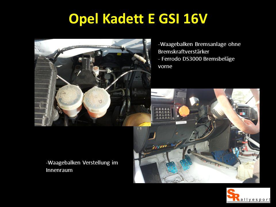 Opel Kadett E GSI 16V Waagebalken Bremsanlage ohne Bremskraftverstärker. Ferrodo DS3000 Bremsbeläge vorne.