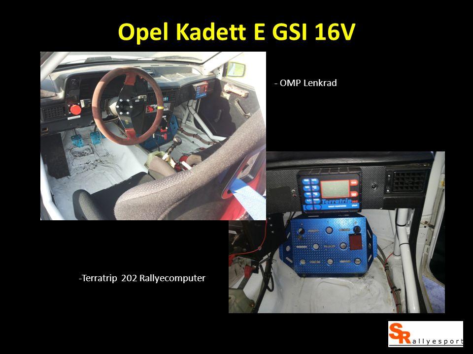 Opel Kadett E GSI 16V - OMP Lenkrad -Terratrip 202 Rallyecomputer