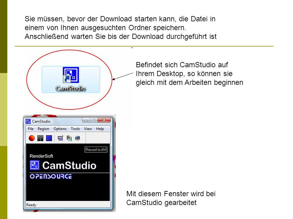 Sie müssen, bevor der Download starten kann, die Datei in einem von Ihnen ausgesuchten Ordner speichern. Anschließend warten Sie bis der Download durchgeführt ist