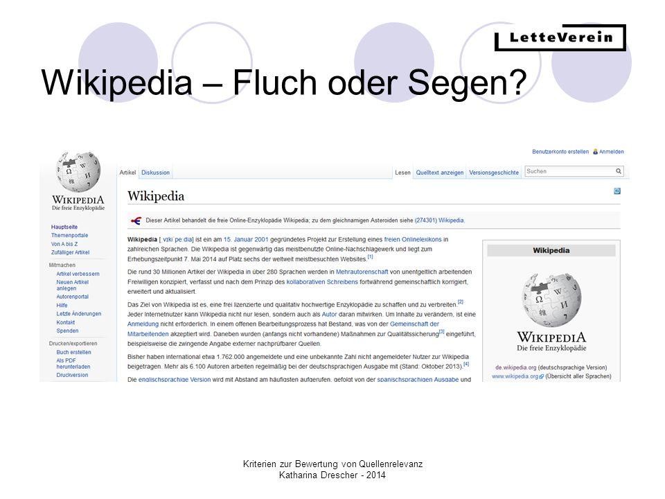 Wikipedia – Fluch oder Segen
