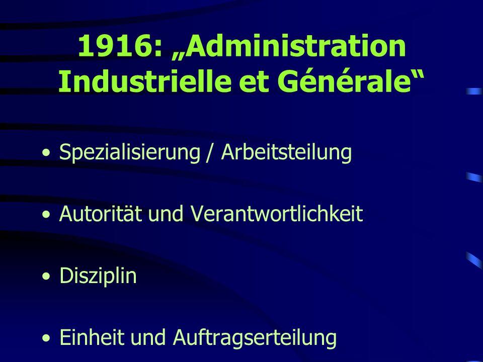 """1916: """"Administration Industrielle et Générale"""
