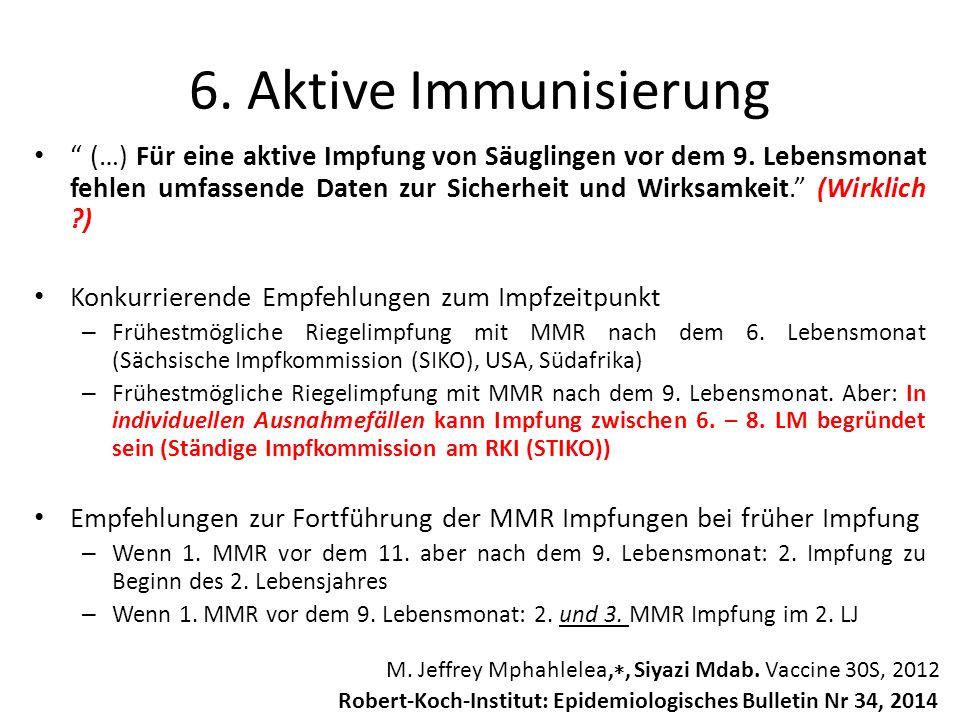 6. Aktive Immunisierung