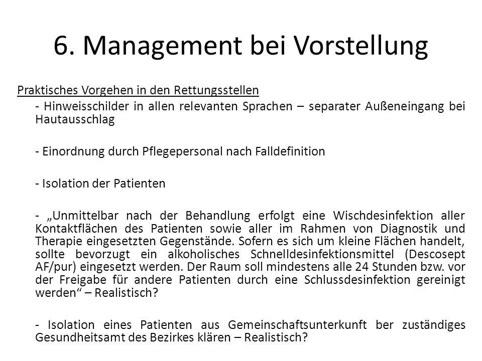 6. Management bei Vorstellung