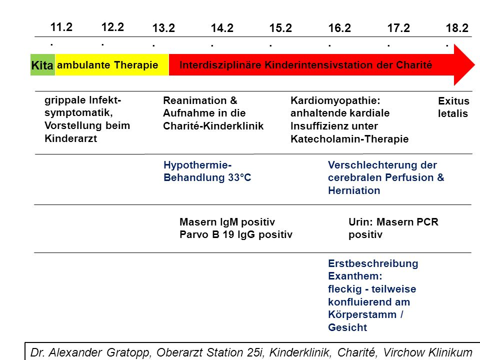 11.2. 12.2. 13.2. 14.2. 15.2. 16.2. 17.2. 18.2. Kita. ambulante Therapie. Interdisziplinäre Kinderintensivstation der Charité.