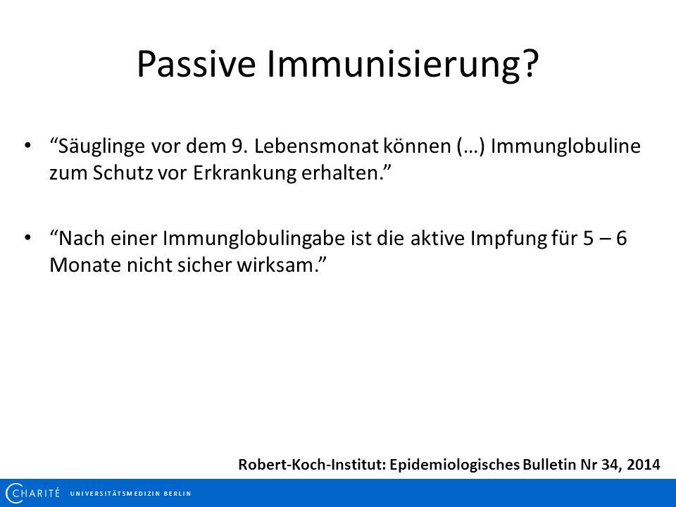 Passive Immunisierung