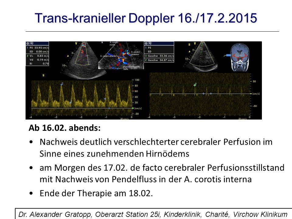 Trans-kranieller Doppler 16./17.2.2015