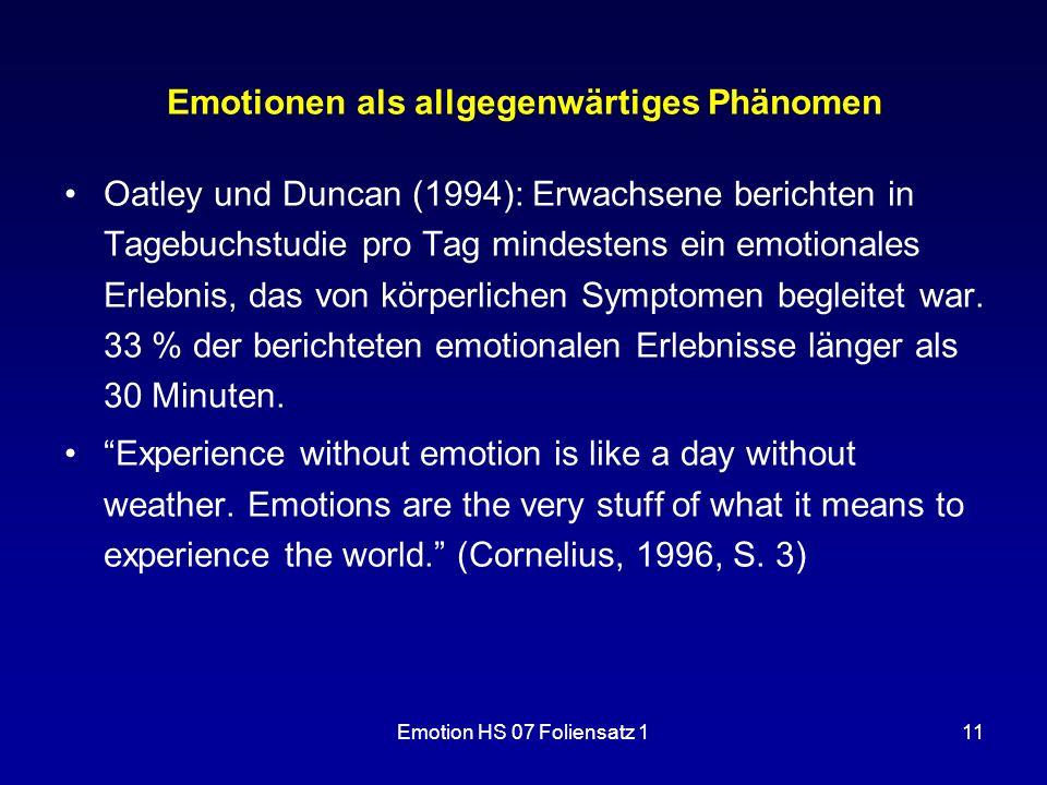 Emotionen als allgegenwärtiges Phänomen