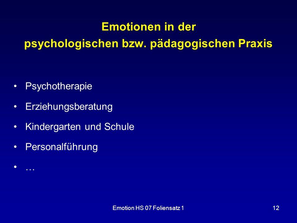 psychologischen bzw. pädagogischen Praxis
