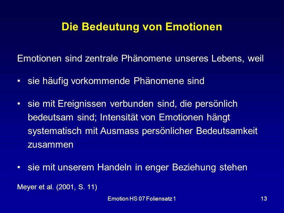 Die Bedeutung von Emotionen