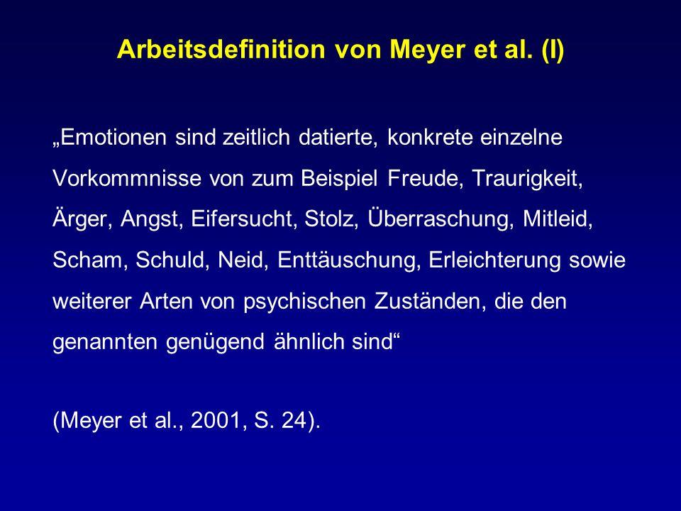 Arbeitsdefinition von Meyer et al. (I)