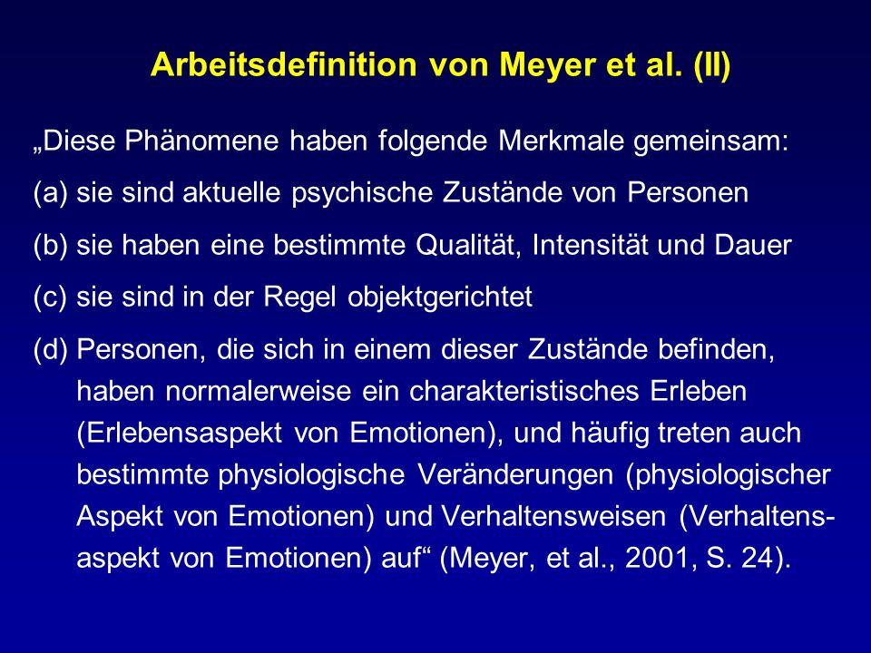 Arbeitsdefinition von Meyer et al. (II)
