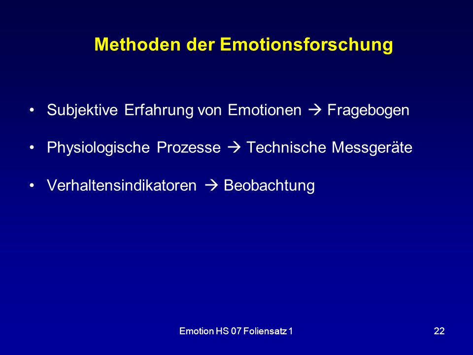 Methoden der Emotionsforschung