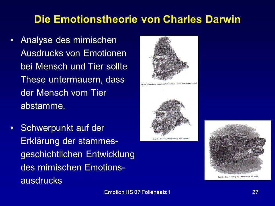 Die Emotionstheorie von Charles Darwin