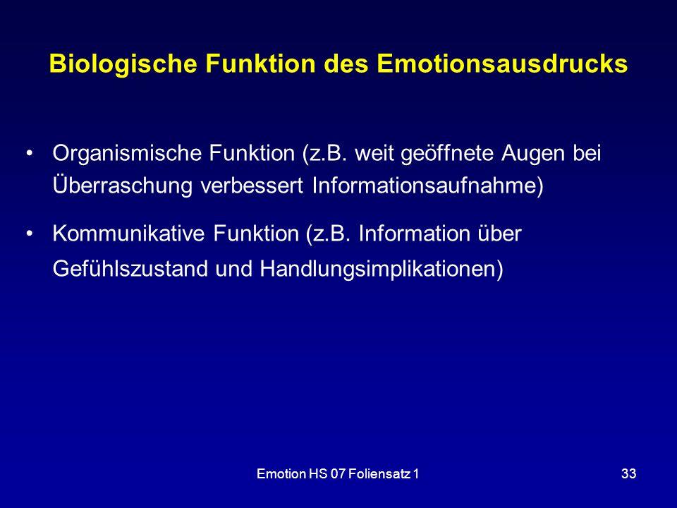 Biologische Funktion des Emotionsausdrucks