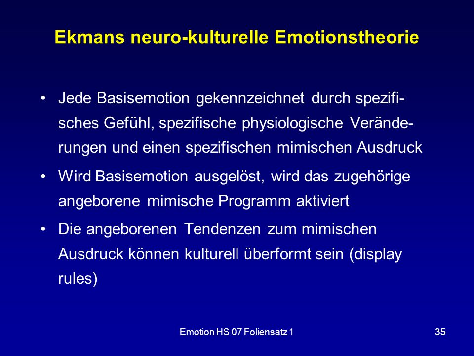 Ekmans neuro-kulturelle Emotionstheorie