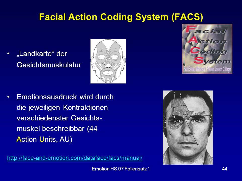 Facial Action Coding System (FACS)