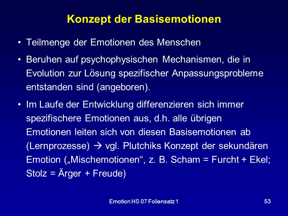 Konzept der Basisemotionen