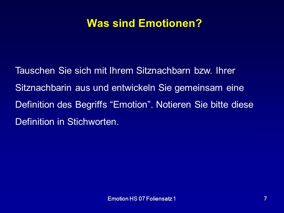 Was sind Emotionen